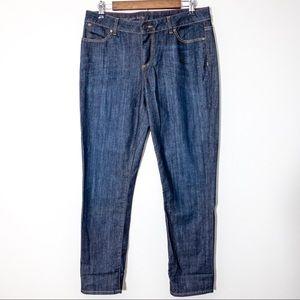 Talbots Signature Ankle Jeans Sz 10 / 30 Dark Wash